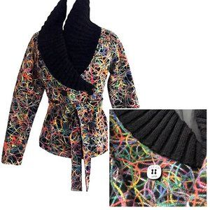 Dolce Vita Wool Multi Color Thread Peacoat Blazer
